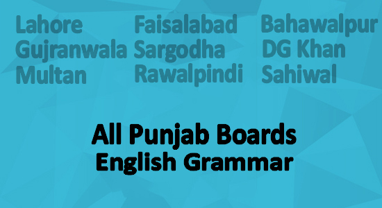 Punjab Board Grammar 10th Class English Online Videos Lectures