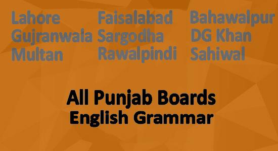 Punjab Board Grammar